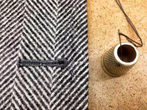 Herringbone fabric Sartoria Tofani