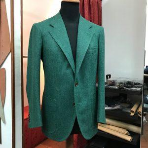 Green Blazer by Sartoria Tofani, Neapolitan Tailoring