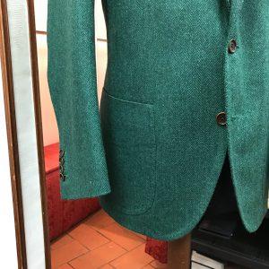 Green Blazer Details by Sartoria Tofani